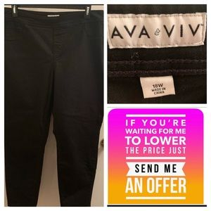 👖black pull on jeans18W🔥Make an offer!🙀